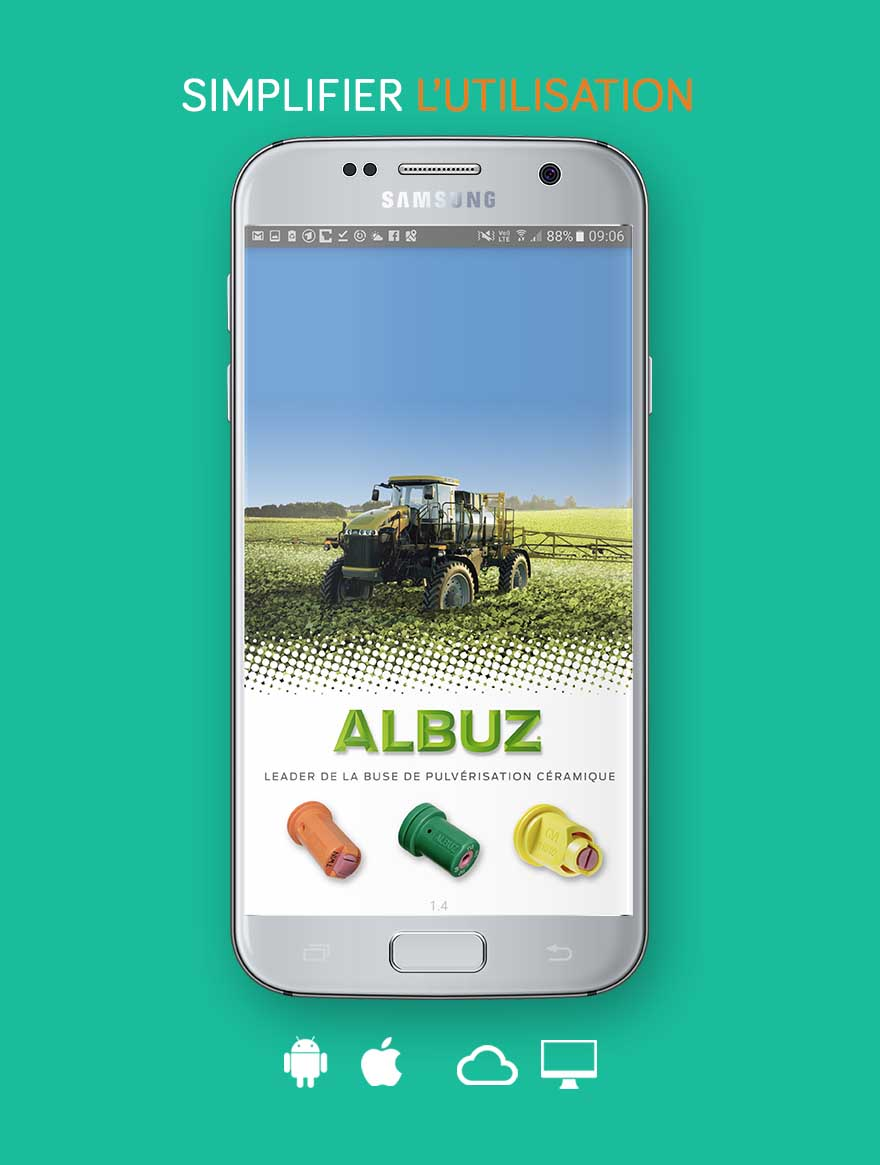 """Notre living app intégrée """"Albuz"""" : Agrandissement d'un réseau de distribution international appuyé par une app innovative pour iOS et Android, qui révolutionne la sélection produit grâce à des calcul interactif multifactoriel intégrant une base de donnée Big Data avec plus de 40.0000 stations de mesure"""