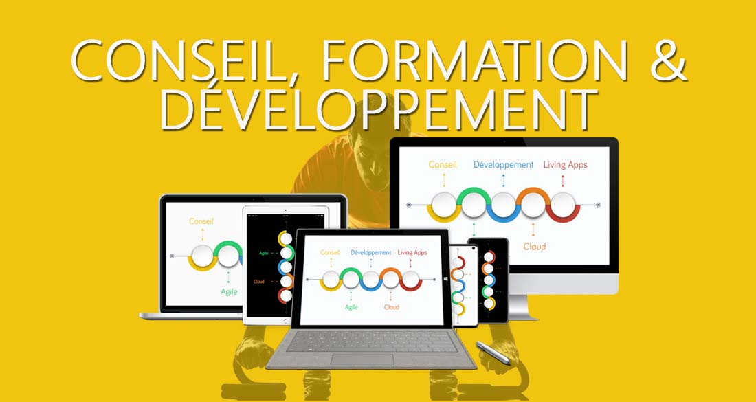 Nos solutions innovantes pour votre succès digital : le principe 3E, Idées 3E, Consulting 3E, Training, VisioVentes, VisioExcellence, apps standalone, applications intégrées, plateformes digitales : : iOS, Android, Windows, PHP, .NET, Cloud, etc.