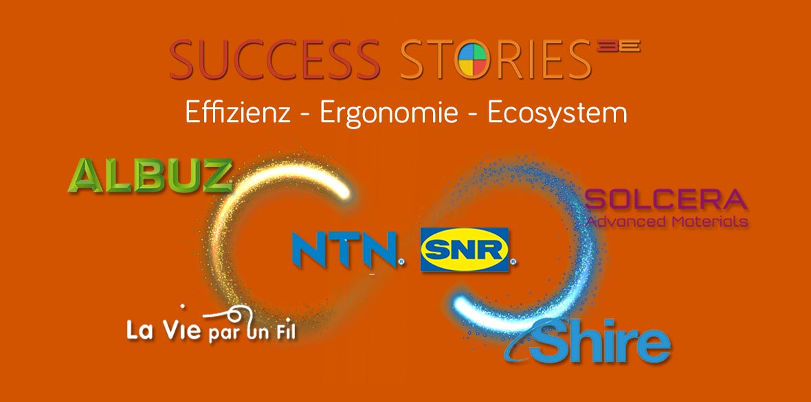Success Stories: Shire (Mobile stand-alone Applikation), Albuz/ Solcera (Integrierte Mobile Applikation mit Big Data), NTN-SNR (digitale Plattform für 2-in-1 portable PC (plateforme digitale Surface Pro/ Azure))