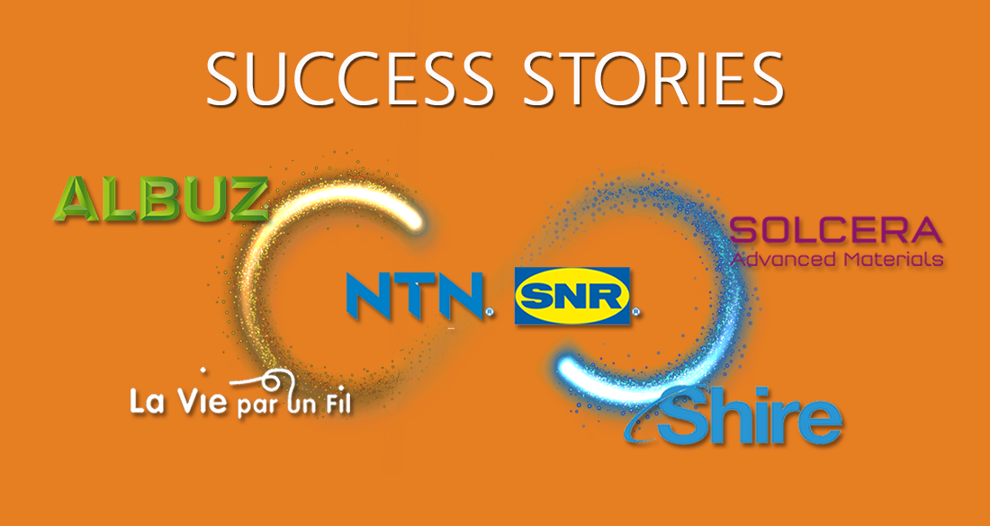 Success Stories: Shire (application mobile mobile stand-alone), Albuz & Solcera (application mobile intégrée Big Data), NTN-SNR (plateforme digitale Surface Pro/ Azure)