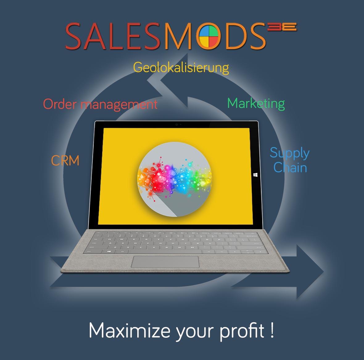 Mehr Informationen über Ihre individuellen Microapps in SalesMods 3E: integrieren Sie SalesMods 3E mit Ihren bestehenden Software Lösungen (ERP, CRM, etc.), um Ihren Kunden neue Information zu präsentieren, die die Kundenzufriedenheit und Ihre Verkäufe erhöhen