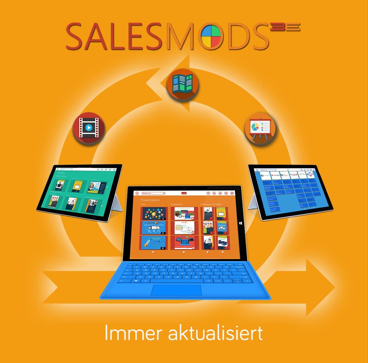 Mehr Informationen über das Digital Asset Management - Modul von SalesMods 3E:  Effiziente Prâsentationen Ihrer Filme, Katalogue, Präsentationen, Werbeaktionen, etc