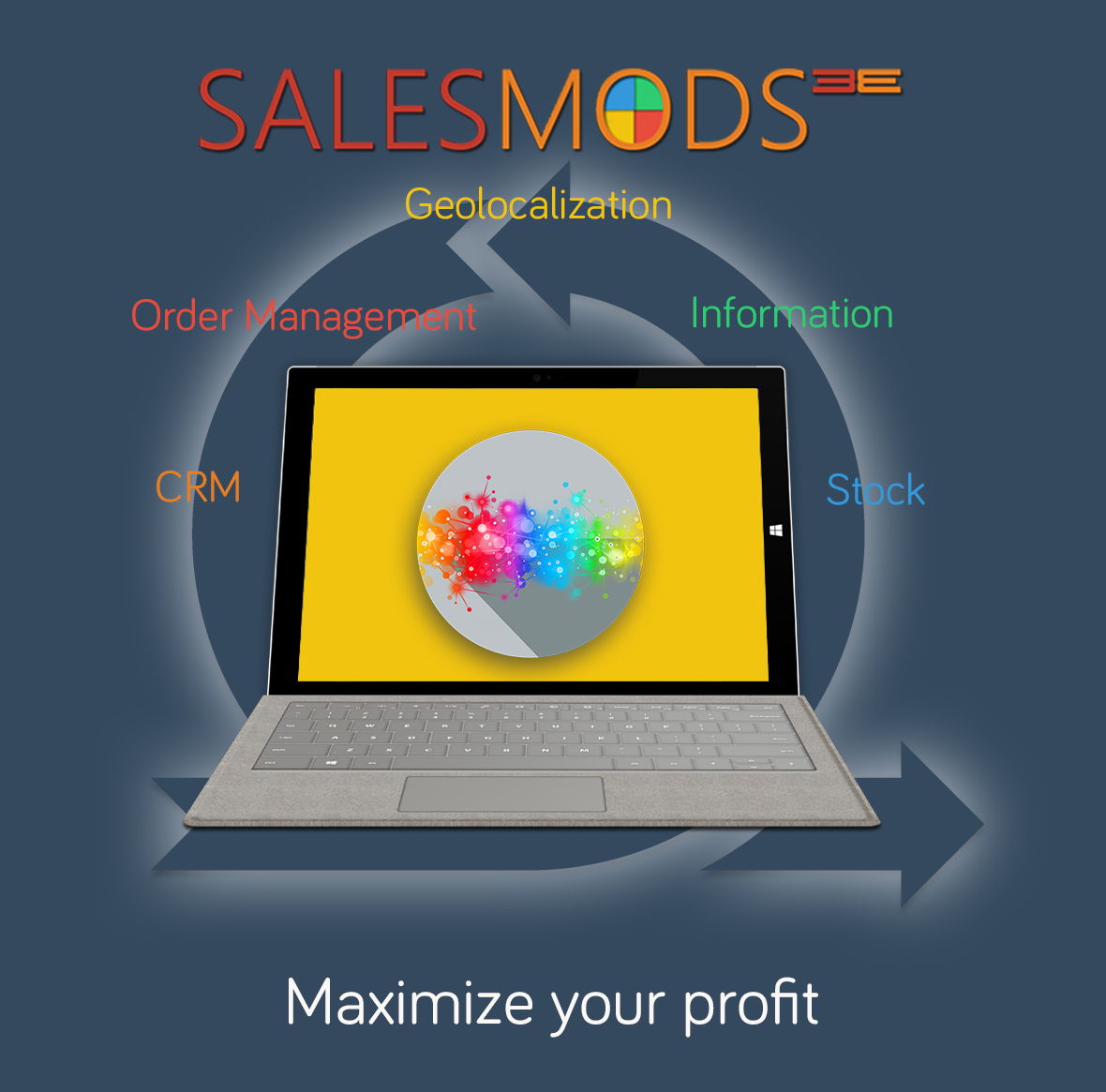 More information about your customized Mods (Microapps) in SalesMods 3E: integrate your existing IT solutions (ERP, CRM) with SalsMods 3E to present new data to your clients which increase customer satisfaction and your sales