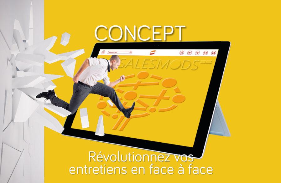 Le concept de SalesMods 3E: la 1ère solution modulaire de storytelling digital pour la force de vente