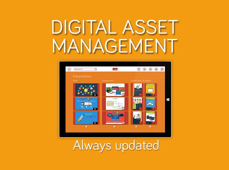 The Digital Asset Management - Modul of SalesMods 3E:  Present efficiently your présentations, films, catalogues, brochures, promotions, etc.
