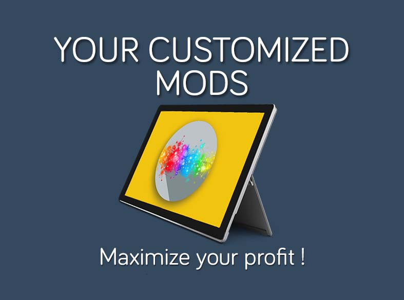 Your customized Mods (Microapps) in SalesMods 3E: integrate your existing IT solutions (ERP, CRM) with SalsMods 3E to present new data to your clients which increase customer satisfaction and your sales