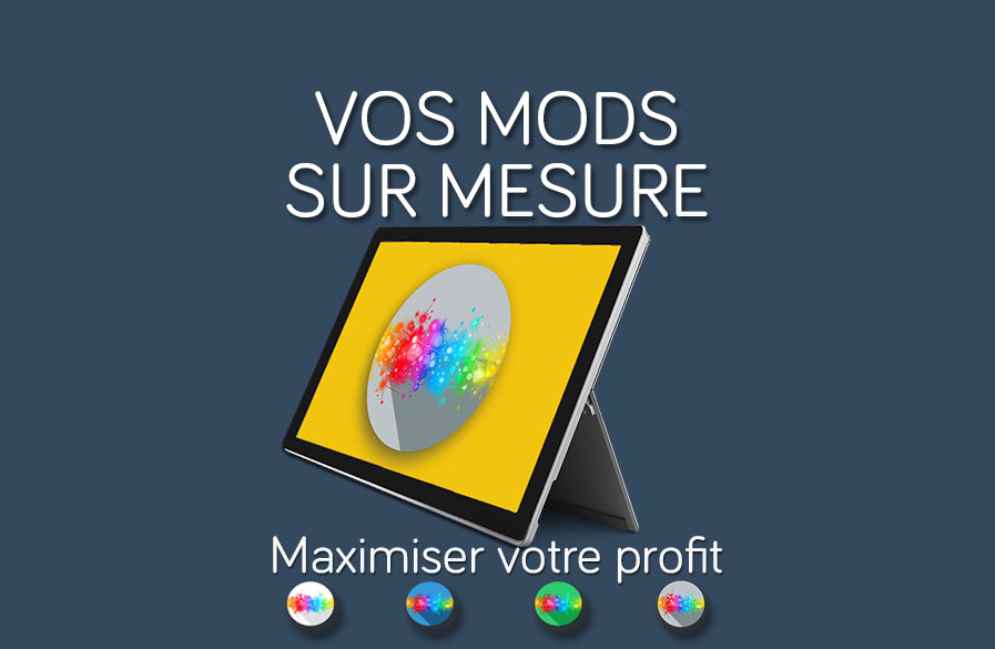 Vos Mods sur mesure dans SalesMods 3E: Intégrerez vos solutions IT existantes (ERP, CRM ...) pour afficher des informations supplémentaires qui augmentent la satisfaction client et vos ventes.