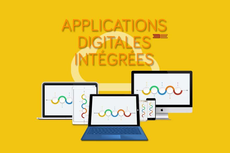 Applications mobiles et digitales 3E intégrées avec votre IT legacy système/ des bases de données Cloud pour Smartphones, Tablettes et PC (technologies iOS, Android, .NET, etc.)
