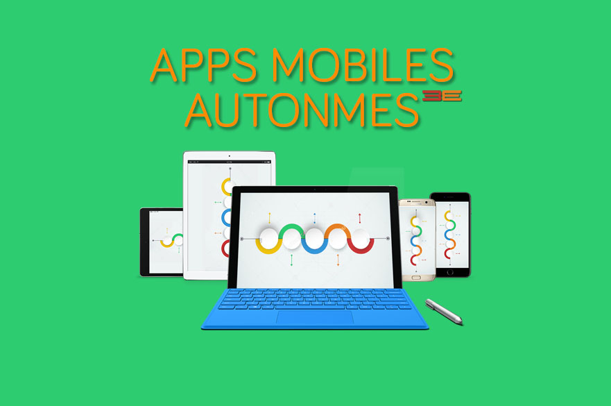 Standalone apps pour Smartphones et Tablettes (technologies iOS, Android, windows, etc.)